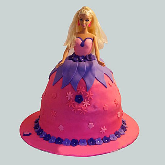 Royal Barbie Cake 3kg Eggless Black Forest