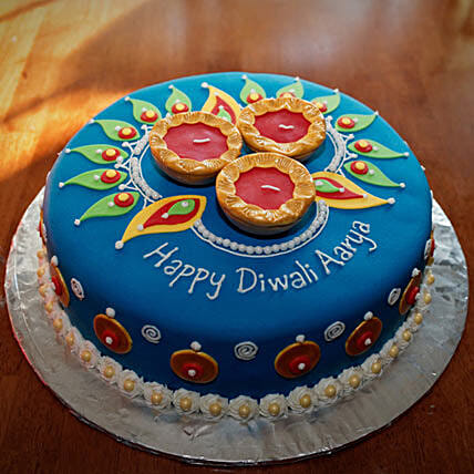 Royal N Flashy Diwali Cake 1kg