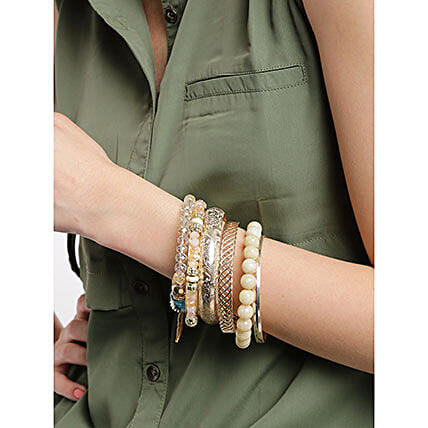 Set of 7 Gold Plated Bangles