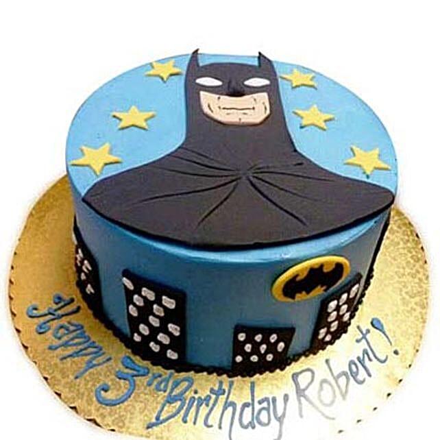 Shiny Batman With Stars 2Kg Eggless Chocolate