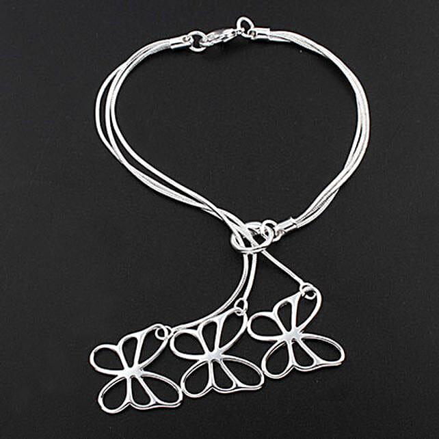 Silver Plated Butterfly Shaped Bracelet