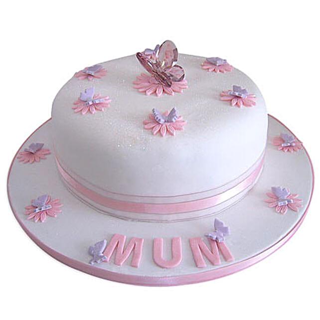 Simple and Sweet Love Mom Cake 3kg Eggless Vanilla