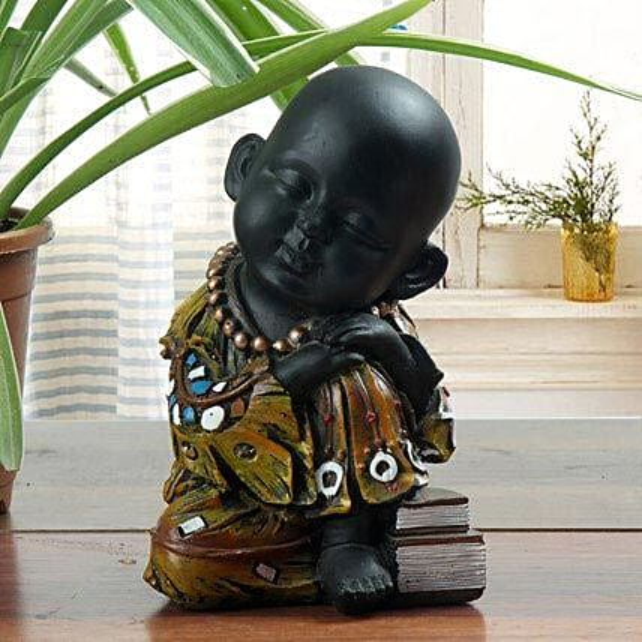 Sleeping monk showpiece