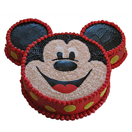 Smiley Mickey Mouse Cake 2Kg Pineapple