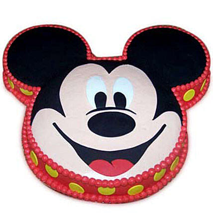Soft Mickey Face Cake 2kg Black Forest Eggless