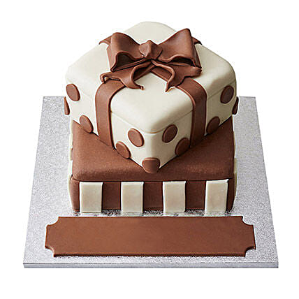 Special Gift Box Fondant Cake Chocolate 4kg Eggless