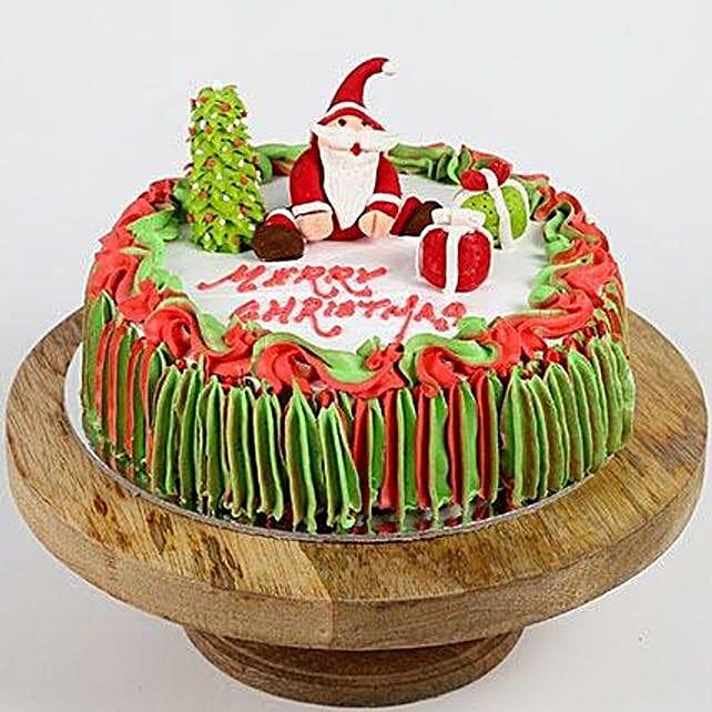 Special Santa Claus Vanilla Cake- 1 Kg Eggless