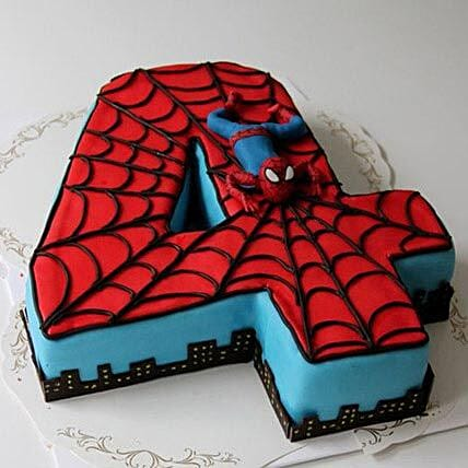 Spiderman Birthday Cake 3Kg Eggless Black Forest