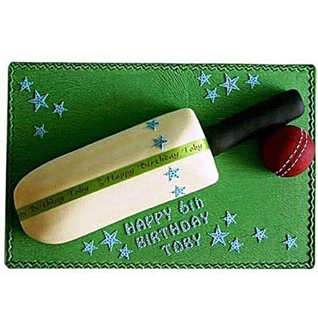 Splendid Cricket Bat Ball Cake 3Kg Eggless Butterscotch