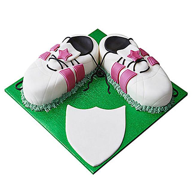 Sports Shoe Fondant Cake Butterscotch 4kg Eggless