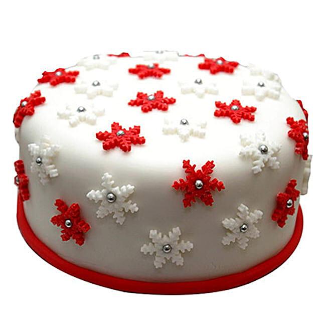Star Filled Christmas Fondant Cake 3kg Chocolate Eggless