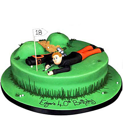 Stunning Golf Course Cake 3Kg Butterscotch