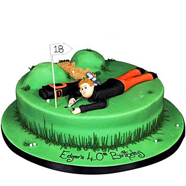 Stunning Golf Course Cake 4Kg Eggless Butterscotch