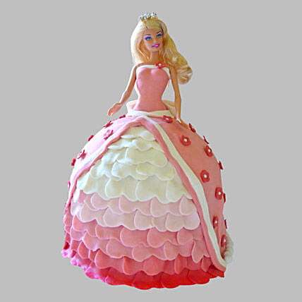 Style Queen Barbie Cake 2Kg Eggless Butterscotch