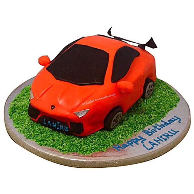 Stylish Lamborghini Cake 2kg Black Forest