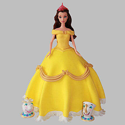 Sunshine Barbie Cake 2Kg Eggless Chocolate