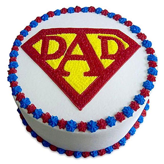 Super Cake For A Super Dad 2kg Vanilla