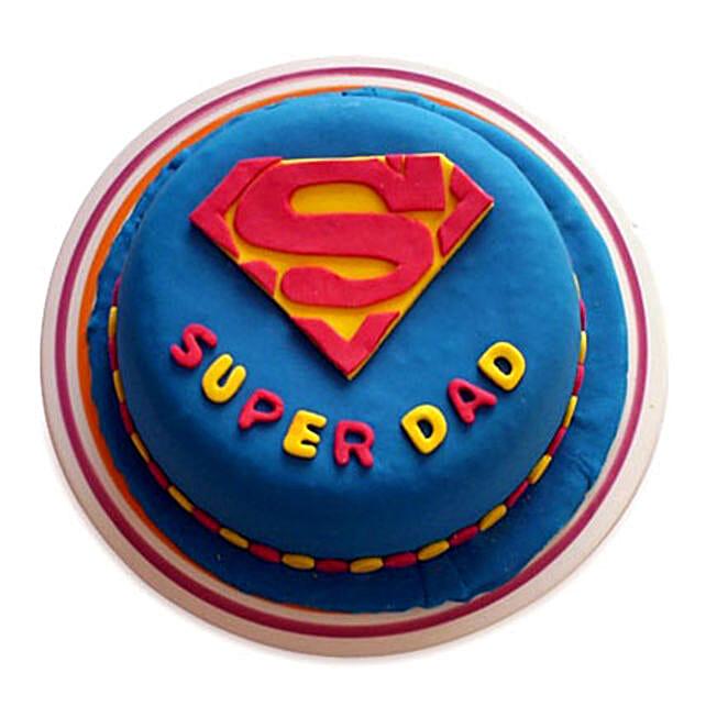 Super Dad Designer Cake 2kg Vanilla Eggless