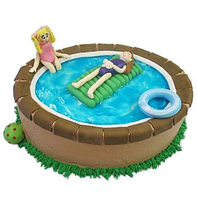 Swimming Pool Cake 4Kg Butterscotch