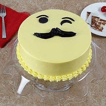 Tasty Cream Cake for Fathers Day Butterscotch Cake 3kg Eggless