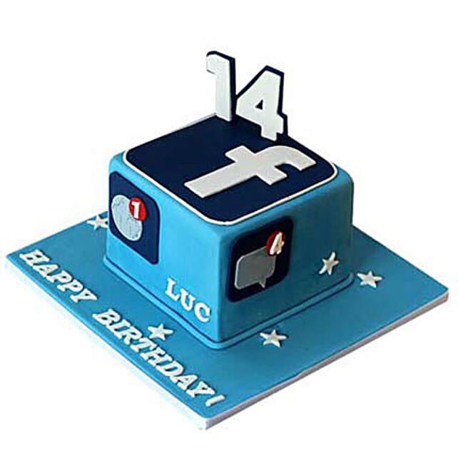 Tasty Facebook Cake 3Kg Truffle