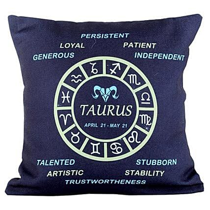 Taurus Cushion-Navy Blue Taurus Cushion 12X12 inches