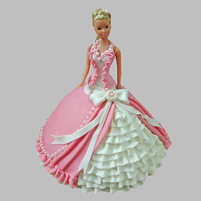 Ultra Style Queen Barbie Cake 3Kg Eggless Butterscotch