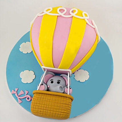 Up In The Sky Balloon Cake 3kg Eggless Butterscotch