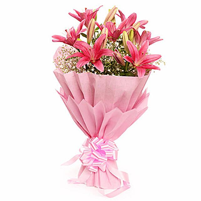 Valentine Captivating Asiatic Lilies