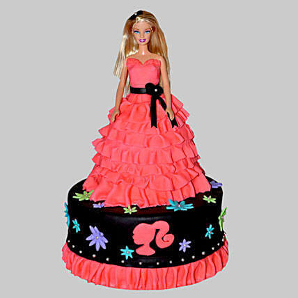Wavy Dress Barbie Cake 3Kg Vanilla