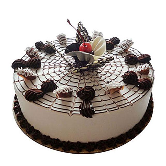 Web Of Happiness Cake Half kg Butterscotch Eggless