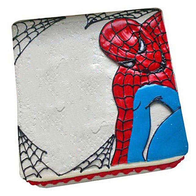 Web of Spiderman Cake 1kg Butterscotch Eggless