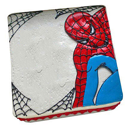 Web of Spiderman Cake 2kg Black Forest Eggless