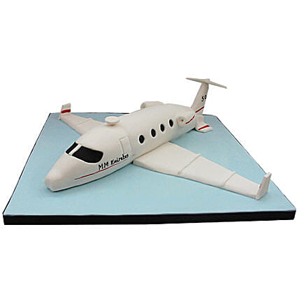 White Airplane Cake 3Kg Black Forest