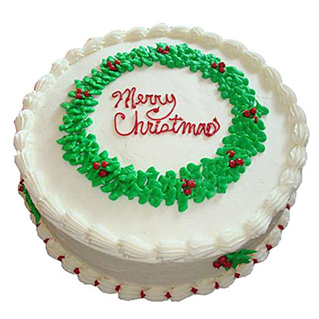White Merry Christmas Cake 2kg Chocolate