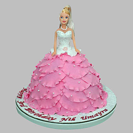White N Pink Barbie Cake 2kg