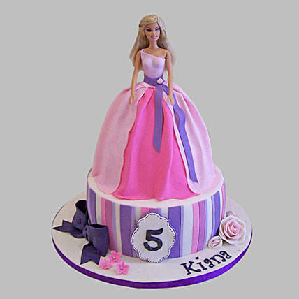 Wishful Barbie Cake 3Kg Pineapple