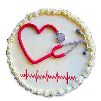 With love, to Doctor 1kg:Send Doctors Day Cakes