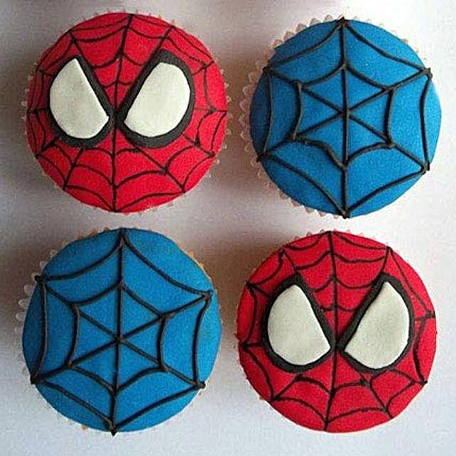World of Spiderman Cupcakes 24