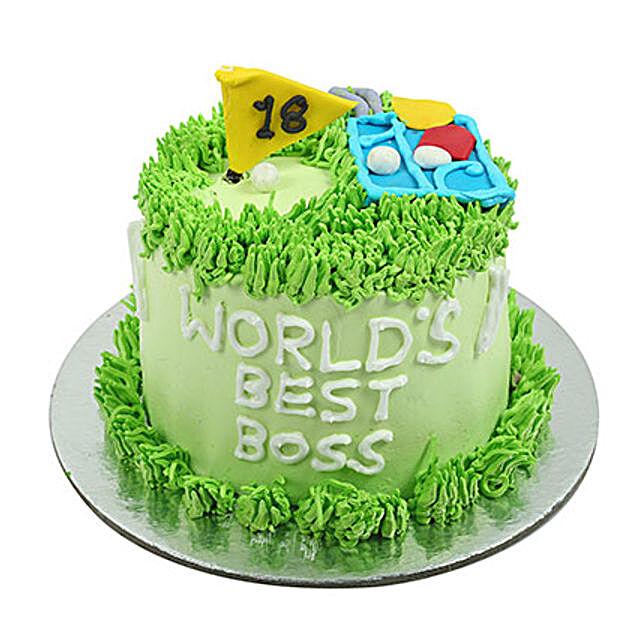 Worlds Best Boss Cake 1Kg Eggless Truffle