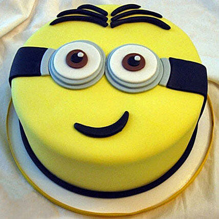 Yellow Minion Cake 1kg Black Forest Eggless