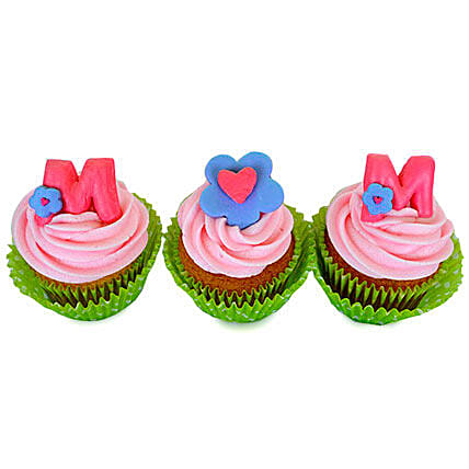 Yummy Surprise For Mom Cupcakes 6 Eggless