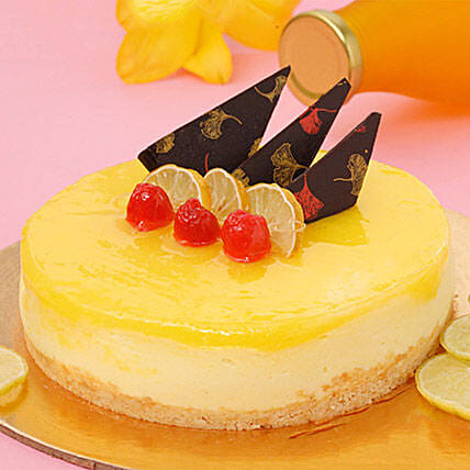 Zesty Lemon Cheesecake 1Kg For Icici Eggless