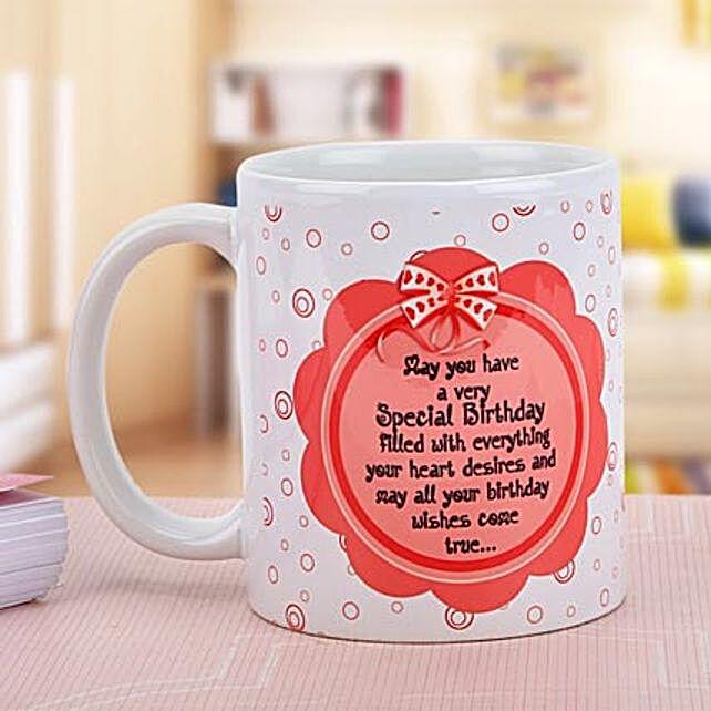 Wishes Come True-White and Pink Color Non personalized White Mug