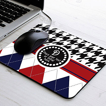 Elegant Personalized-Blue and red personalized mouse pad