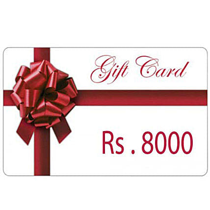 stunning gift-Gift Card Rs.8000