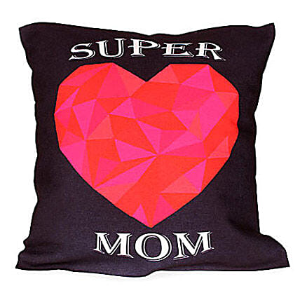 Heart Printed Cushion for Mother
