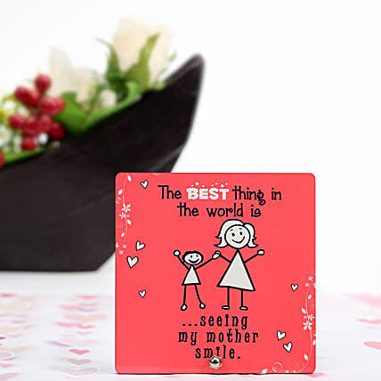 Mothers Smile Plaque-1 red coloured mothers smile plaque:Plaques