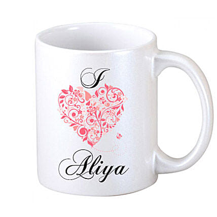 Mug For Your Lover-One White Coffee Mug,personalized text,red heart image