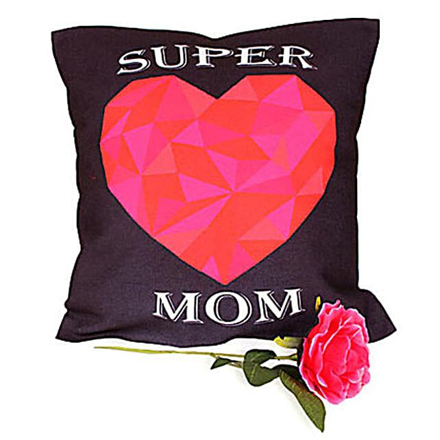 Mum Cushion-Hamper of 12x12 inches Super Mom cushion